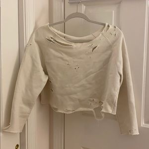 Distressed sweatshirt